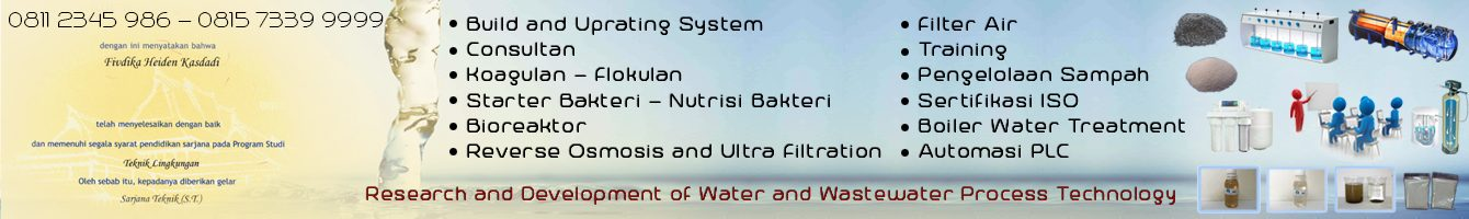 Konsultan IPAL, Biofilter, Reverse Osmosis, Filter Air